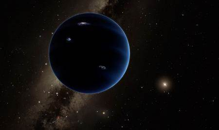 An artist's rendering of Planet Nine. Caltech/R. Hurt (IPAC)